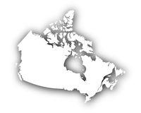 Karte von Kanada mit Schatten - Map of Canada with shadow