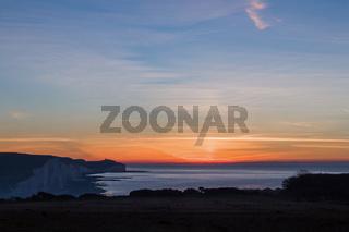 December sunrise from Seaford Head