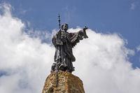 Statue on the Petit Saint Bernard