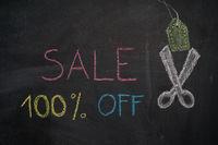 Sale 100% off on chalkboard