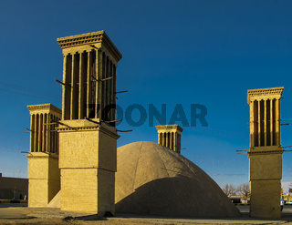 Cooling wind tower, Yazd, Iran