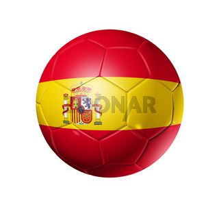 Soccer football ball with Spain flag
