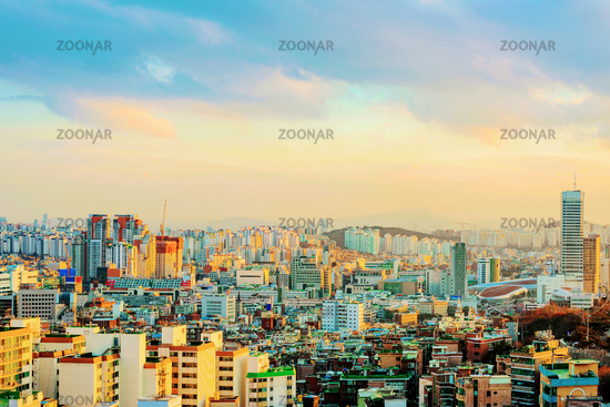 View of Seoul during Golden hour