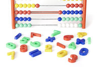 multicolored numerics with abacus