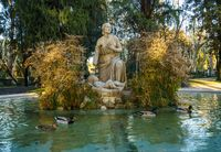 Fountain of Moses in Borghese Gardens