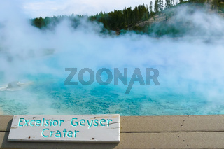 Excelsior Geyser Yellowstone Park