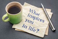 What inspires you in life?