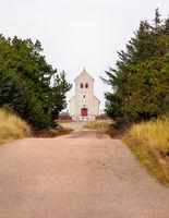 Haurvig Kirke near Hvide Sande in Denmark
