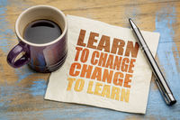 Learn to change word abstract on napkin