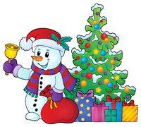 Christmas snowman topic image 6
