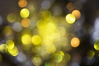 Sparkling Golden Lights Background, Party Or Christmas Texture