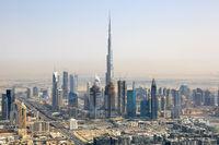 Dubai Burj Khalifa Downtown Luftaufnahme Luftbild