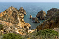 Ponta da Piedade with stairs to the caves