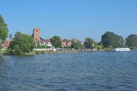 Waren Mueritz in Mecklenburg Lake District,Mecklenburg western Pomerania,Germany