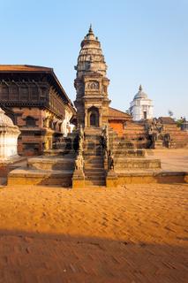 Bhaktapur Durbar Siddhi Laxmi Temple Morning
