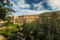 Forified town Mdina in Malta