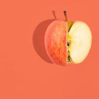 Flat apple background