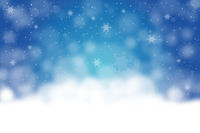 Blue Christmas background with snow