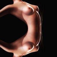Digital 3D Illustration of a nude female Body