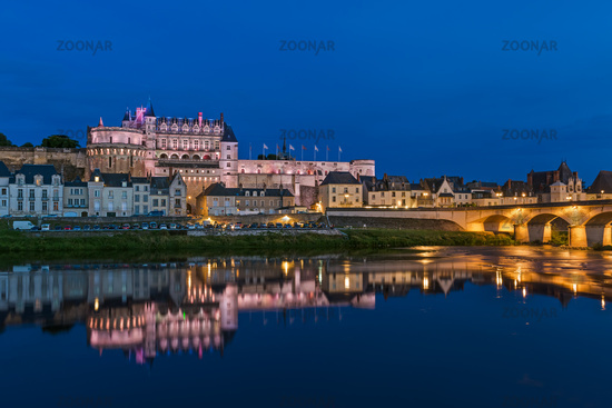Amboise castle in the Loire Valley - France