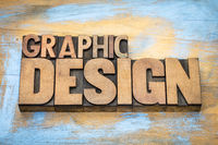 graphic design word abstract in wood type