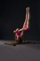 Image of tightrope walker training in studio