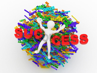 Conceptual image of success. Development of business ideas. 3d