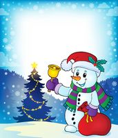 Christmas snowman topic image 4