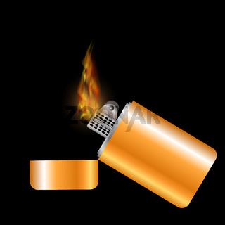 Burning Gold Lighter