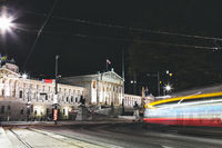 Historical Austrian Parliament building on Ring Road in Vienna