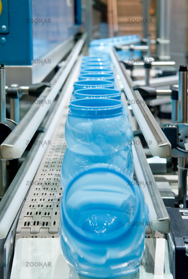 Mass production of plastic container