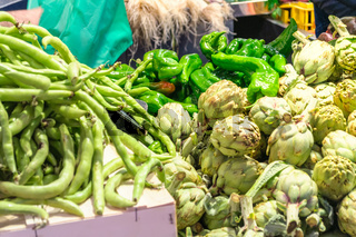 Vegetables in the market