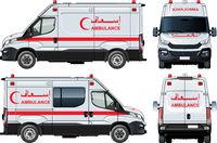 Vector Ambulance Van