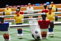 Play with the tabletop football