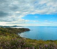 Mediterranean summer coast, France.