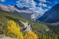 The picturesque canyon in autumn day