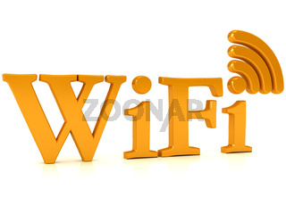 Wireless network sign over white