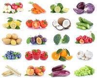 Obst und Gemüse Früchte Sammlung Äpfel, Orangen Pfirsich Paprika Essen Freisteller