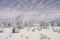 Schneekoppe im Winter - mountain Sniezka in winter, Giant  Mountains