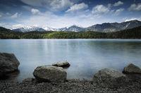 Am Eibsee in Bayern, Langzeitbelichtung