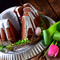 delicious chocolate spring cake