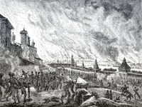 The 1812 Fire of Moscow, Russia
