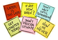 fighting procrastination - set of motivational notes