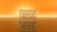 nummer 404 in glasquader - 3d illustration
