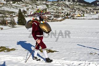 Schellenklaus, Alten Silvester, Urnäsch, Kanton Appenzell Ausserrhoden, Schweiz