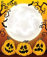Halloween pumpkins theme image 3 - picture illustration.