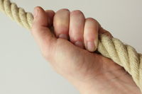 rope in hand