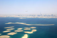 Dubai The World Welt Insel Inseln Burj Khalifa Luftaufnahme Luftbild