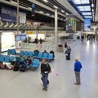 departure hall, airport Frankfurt-Hahn, Rhineland-Palatinate, Germany, Europe
