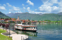 Promenade of Baveno at Lake Maggiore,Piedmont,Italy